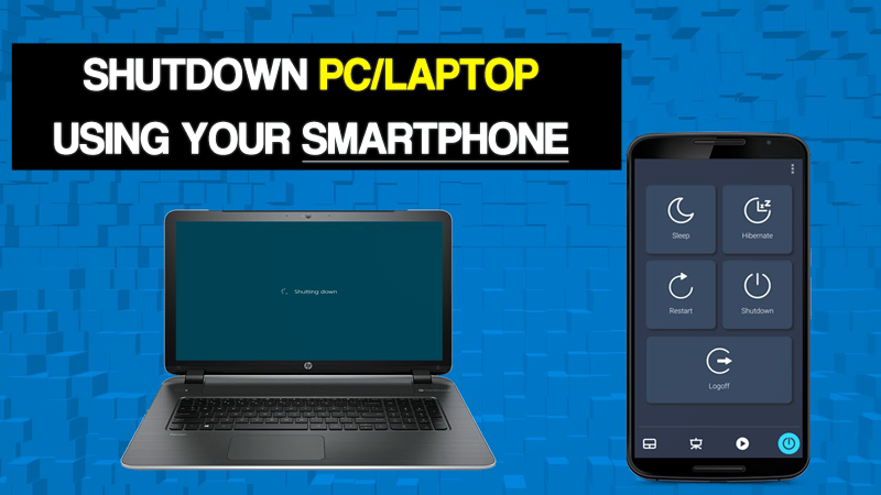 Shutdown PC with Android Smartphone
