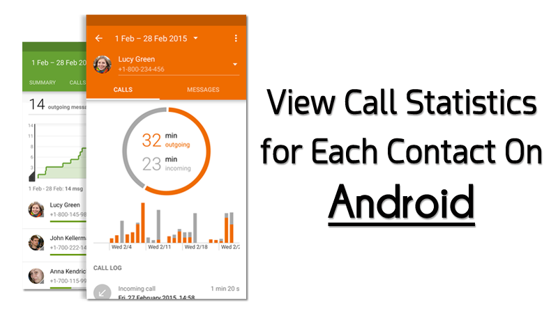 how to check call statistics in Android